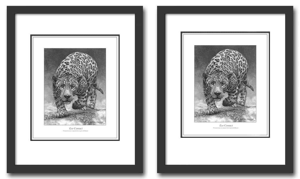 Comparing two prints in 16 x 20 inch when framing on a budget.