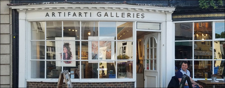 Should you sell your art in Galleries image. gallery frontage