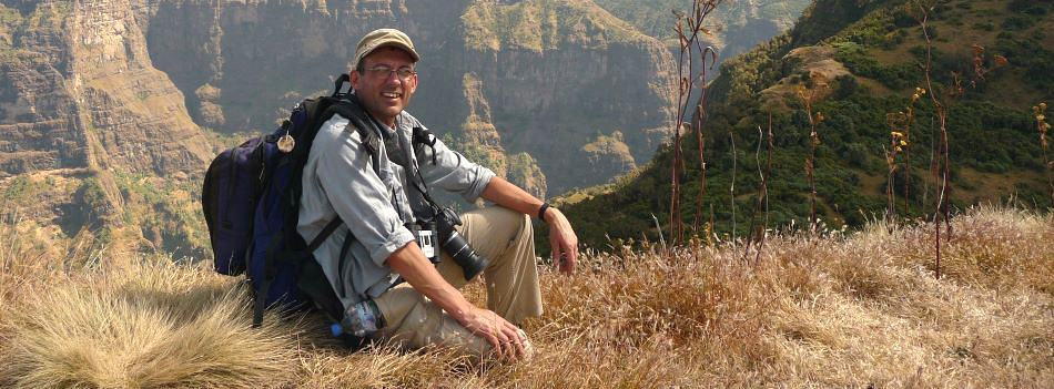 Kevin Hayler in the Simien Mountains