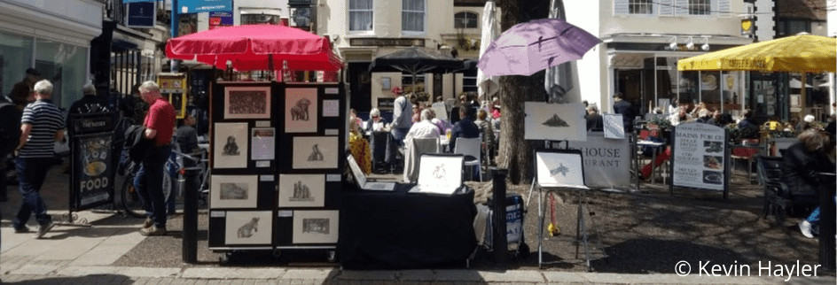 Brighton Market stall in Brighton on a busy summers day