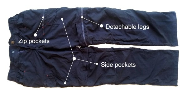 Lightweight and quick-drying trekking trousers