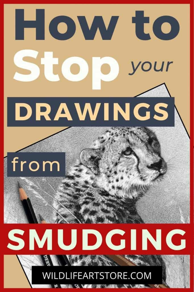 How to prevent your drawings from smudging. Cheetah drawing and pencils for pinterest