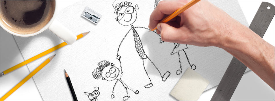 Can anyone learn to draw? An adult hand drawing like a child