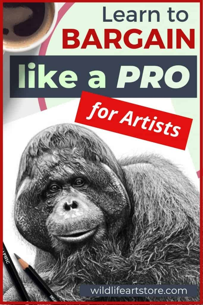 How to negotiate the price of your art prints. Example artwork and materials for Pinterest