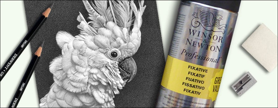 protect and preserve your drawings feature image. drawing, fixative, and art supplies