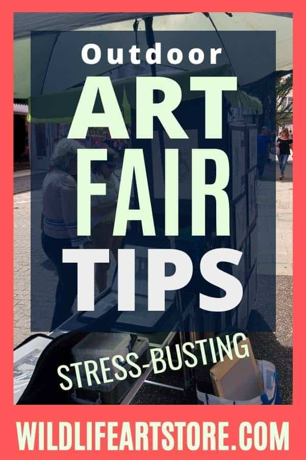 How to prepare for an outdoor art fair image for pinterest