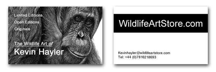 Artist business cards example