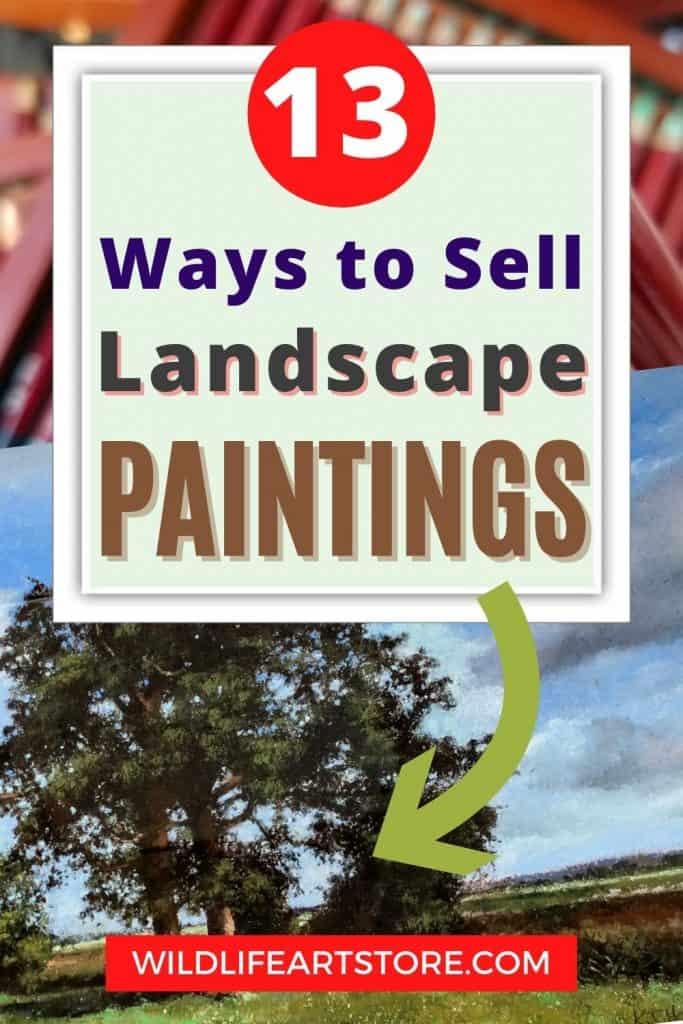 How to sell landscape paintings pinterest pin