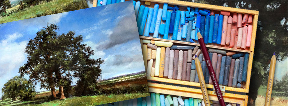 Sell landscape paintings. Three paintings and art materials