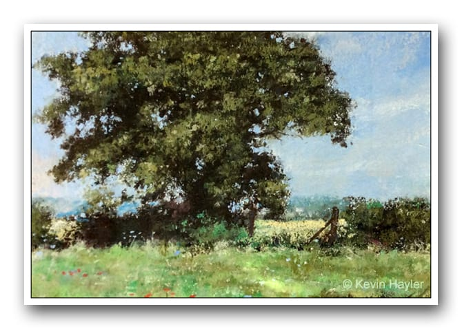 English landscape painting in Pastel