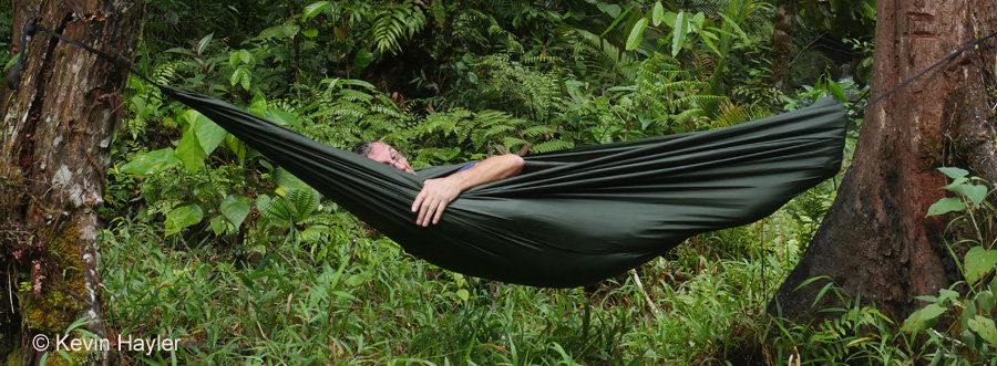 Kevin Hayler earning passive income in a hammock