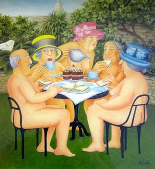 Beryl Cook naive painting style, demonstrating how it's never too late to learn how to draw