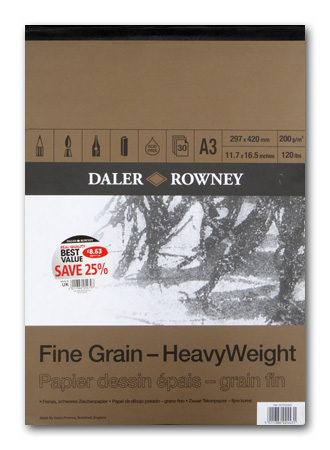 Daler fine grain A3 cartridge drawing pad for realistic drawing